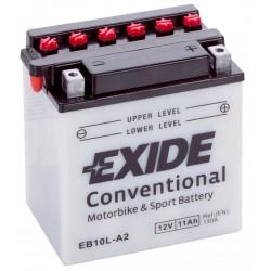 Exide EB10L-B 12v 11Ah Wet Motorcycle Battery Exide Motorcycle