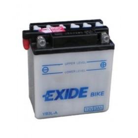 Exide EB3L-A 12v 3Ah Wet Motorcycle Battery Exide Motorcycle