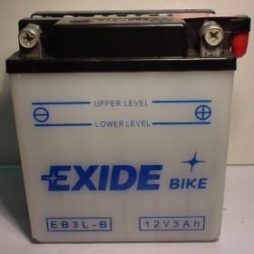 Exide EB3L-B 12v 3Ah Wet Motorcycle Battery Exide Motorcycle