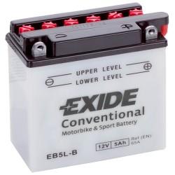 Exide EB5L-B 12v 5Ah Wet Motorcycle Battery Exide Motorcycle