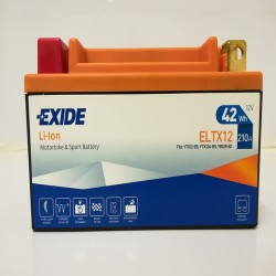 Exide ELTX12 12V 42Wh Lithium Motorcycle Battery