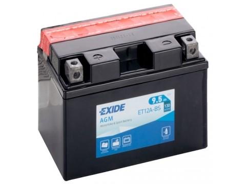 Exide ET12A-BS 12v 9.5 AGM Motorcycle Battery Exide Motorcycle