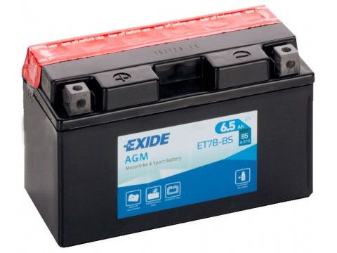 Exide ET7B-BS 12v 6.5Ah AGM Motorcycle Battery Exide Motorcycle