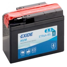 Exide ETR4A-BS 12v 2.3Ah AGM Motorcycle Battery Exide Motorcycle