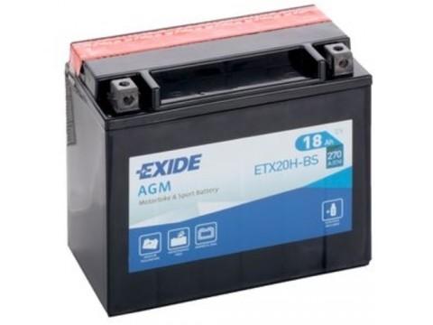 Exide ETX20H-BS 12v 18Ah AGM Motorcycle Battery Exide Motorcycle