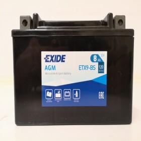 Exide ETX9-BS 12v 8Ah AGM Motorcycle Battery Exide Motorcycle (ETX9BS)