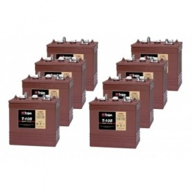 8 x Trojan T-105 6v 225Ah Deep Cycle Batteries (T-105) Trojan Leisure
