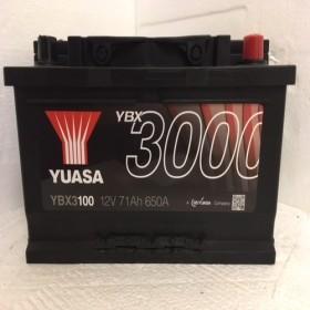 YUASA YBX3100 71Ah 650 CCA Car Battery