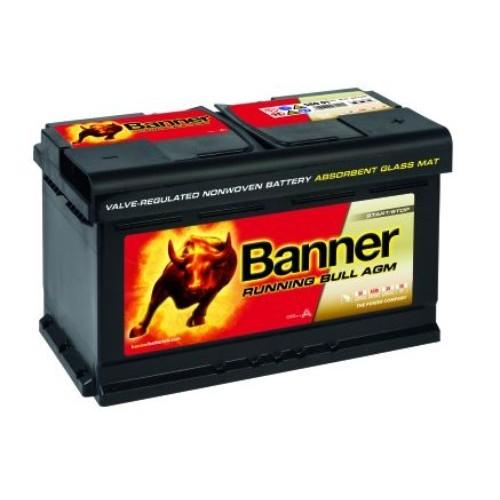 banner 110 12v 80ah 800cca agm stop start car battery 580. Black Bedroom Furniture Sets. Home Design Ideas
