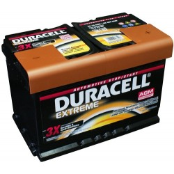 Duracell DE70 AGM Extreme Start - Stop Car Battery (096/E39)