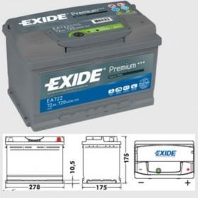 Exide EA722 Premium (100) Exide Taxi