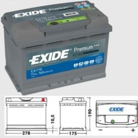 Exide EA770 Premium (067) Exide Taxi
