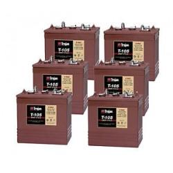 6 x T105 6v 225Ah Golf Buggy Batteries (T-105) t105 Trojan Leisure