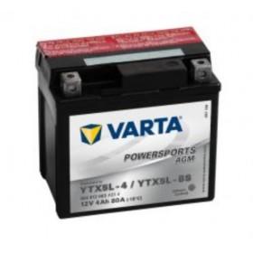 Varta YTX5L-BS Funstart AGM Motorcycle Battery (504 012 003) (YTX5LBS) 12V 4Ah Varta Funstart AGM