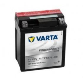 Varta YTX7L-BS Funstart AGM Motorcycle Battery (506 014 005) (YTX7LBS) 12V 6Ah Varta Funstart AGM